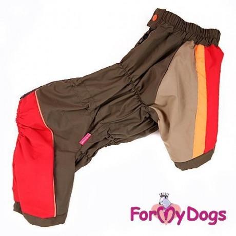 Дождевик красный/хаки для собак купить