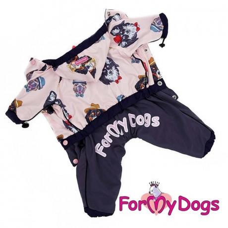 """Комбинезон """"Собачки"""" розовый для собак купить"""