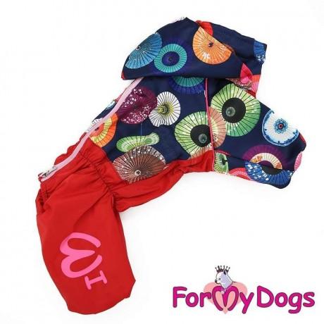 """Дождевик """"Зонтики"""" для собак купить"""