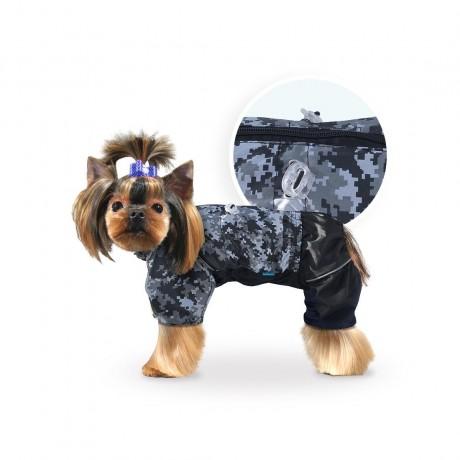 """Дождевик """"Пиксель"""" (застежка-молния на спинке) для собак купить"""