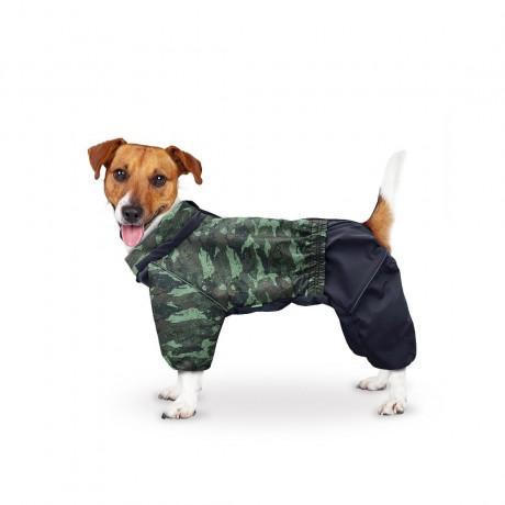 Дождевик камуфляж лес (застежка-молния сверху) для собак купить