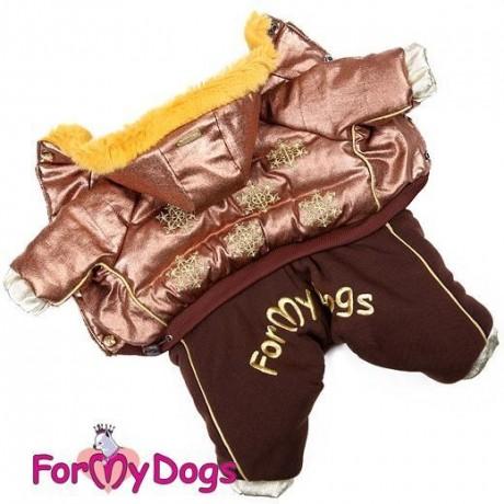 """Комбинезон """"Снежинки"""" бронза купить для собак"""