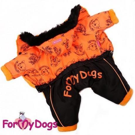 """Комбинезон """"Dogs"""" оранжевый купить для собак"""