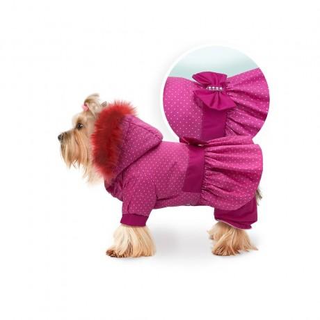 """Комбинезон """"Lovely"""" розовый в горошек для собак купить"""
