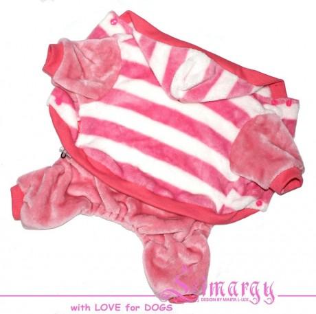 Костюм для собак Limargy плюшевый 'Band' розовый