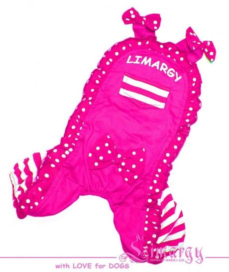 """Костюм """"L-girl"""" розовый для собак купить"""