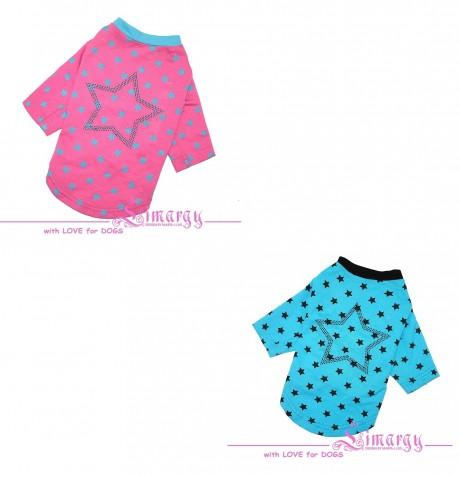 """Лонгслив """"Stars"""" (2 цвета — розовый, голубой) для собак купить"""