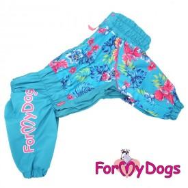 """Дождевик для собак ForMyDogs """"Весна"""" голубой (размер А1)"""