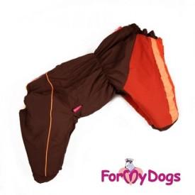 """Комбинезон для собак ForMyDogs """"Brown"""" для девочки"""