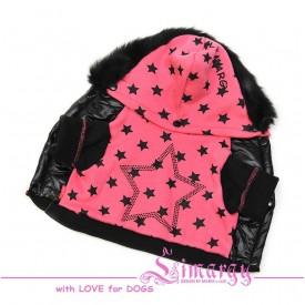 """Кофта """"Stars"""" черный-розовый для собак купить"""