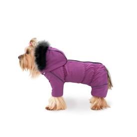 Комбинезон розовый (застежка-молния сверху) для собак купить