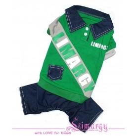 """Комбинезон для собак Limargy """"B-Jeans"""" зеленый"""