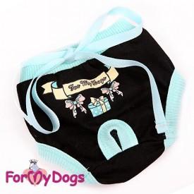 Трусики черный-голубой для собак купить