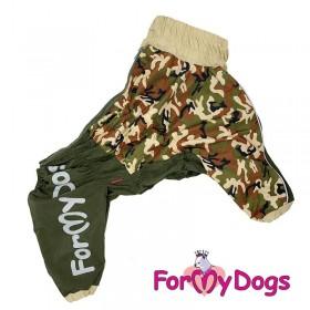 """Дождевик для собак ForMyDogs """"Хаки"""" зеленый"""