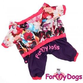 """Комбинезон для собак ForMyDogs """"Цветы"""" розовый"""