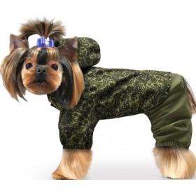 Дождевик для собак хаки