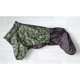 Дождевик для собак зеленый камуфляж