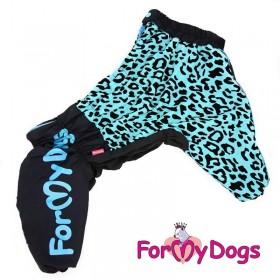 """Комбинезон для собак ForMyDogs """"Лео"""" синий (размер А1)"""