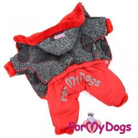 Комбинезон для собак ForMyDogs красный